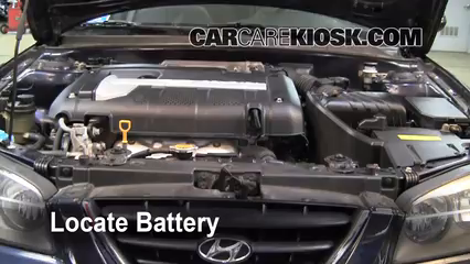 2005 Hyundai Elantra GLS 2.0L 4 Cyl. Sedan (4 Door) Battery Replace
